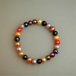 Perlarmband/Süßwasserzuchtperl Armband, bunt.