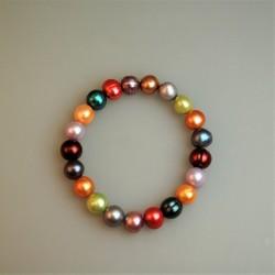 Perlarmband/Süßwasserzuchtperl Armband, bunt. 1