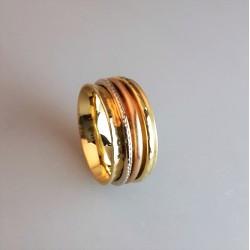 Ring, Handarbeit, 585/000 Gold